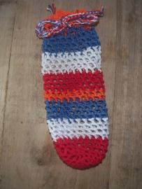 Paosbuul paasnetje rood/wit/blauw/oranje