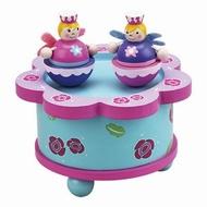 Muziekdoosje dansen prinses roze/blauw