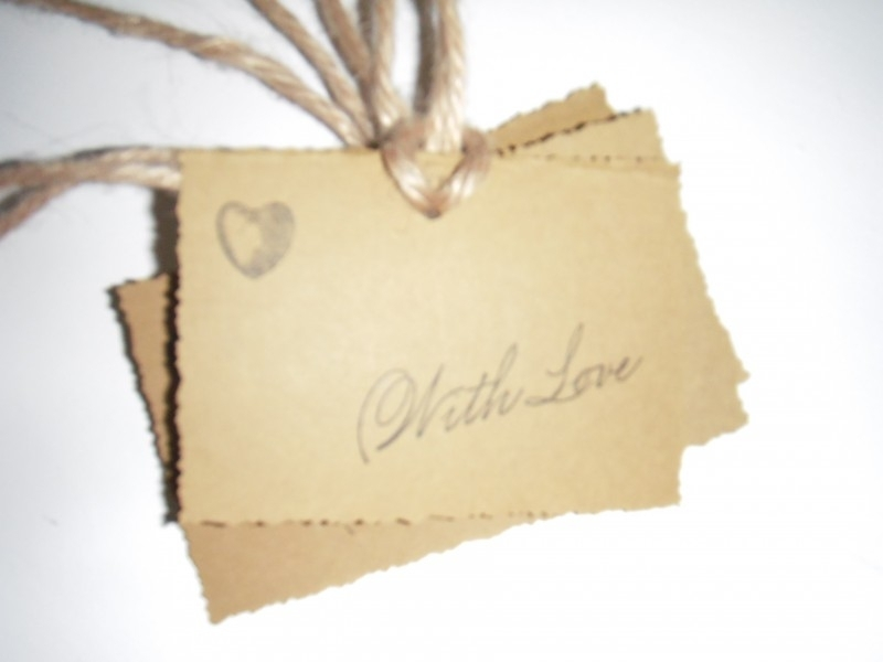"Label ""With Love"" per 4 stuks"