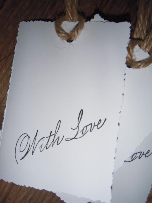 "Label ""With Love"" wit per 4 stuks"