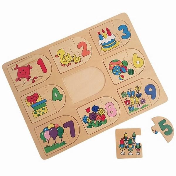 Puzzel tellen met figuren