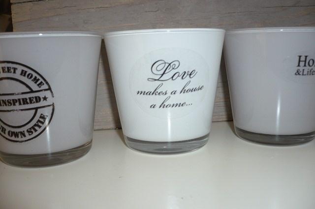 Love makes a house a home (20 stuks)