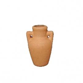 p-tc132: Kruikje met 2 oren (3.5 cm - terracotta steen)