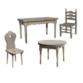 Mbl-051: Tafel en/of stoel 'oud hollands'