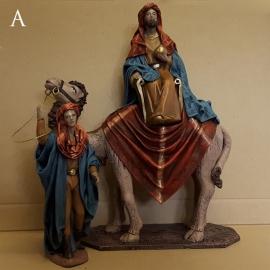 TCbld-1.13: Koning op kameel met drijver