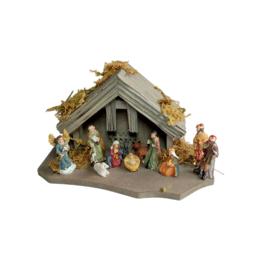 Kst-01-b Miniatuur kerststal (3.5 cm fig)