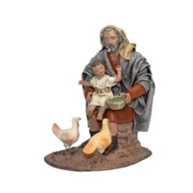 TCbld-2.13b: Herder met kind en kippen