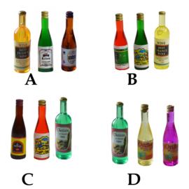 Vvz-15c Flesjes wijn (per 3 stks)
