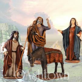 Kerstbeelden Terra-cotta -  12 - 14 - 17cmH