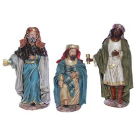 TCbld-1.10a: Drie koningen 12 - 14 - 17cmH (3 dlg set)