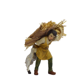 Kg11-3.50 Herder met strozak en geit