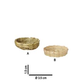 p-r111: Mandje / schaal (1 x 3.5 cmØ)