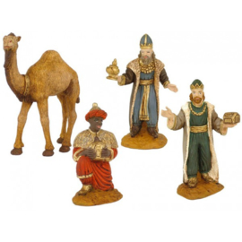 Sp-42: Drie koningen met 1 kameel (set 4 stks)
