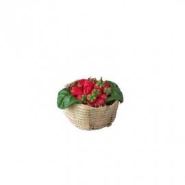Vfr-021 Mandje met aardbeien Ø 2.5 cm