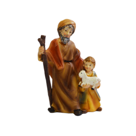 Kg9-2.09 Oude herder met jongetje