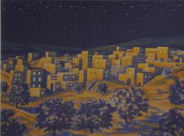 Gpa-B12b: Bethlehem achtergrond (Nacht 70x100cm)