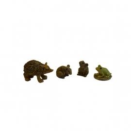 Dd-173 Muizen, kikker en egeltje (4 dlg set)