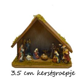 Kg-mb15 Kerstgroepje 3.5 cm / 5cmH