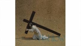 Ps28  Jezus valt onder het kruis
