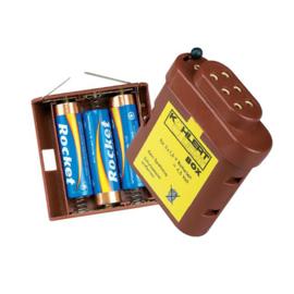 El-08:  Batterijhouder met 3 aansluitpunten