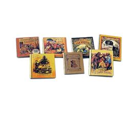 p-hz34: Miniatuur boekjes (set 7 stks)