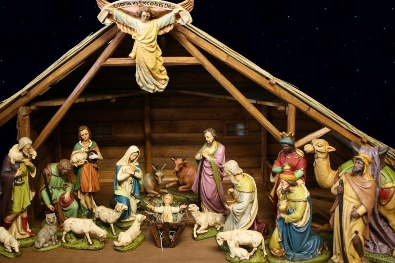 Kerststal Hv groot 23 cm