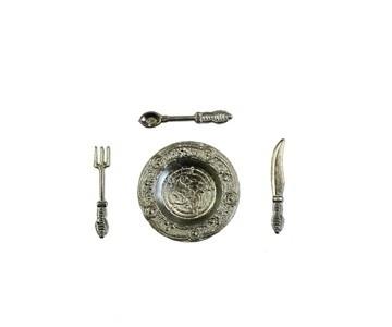 p-hs20b:  Bord met bestek (zilverkleur)