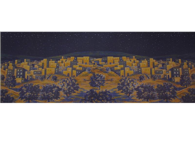 Gpa-B1c: Achtergrond Nacht (XL70 x 200cm)
