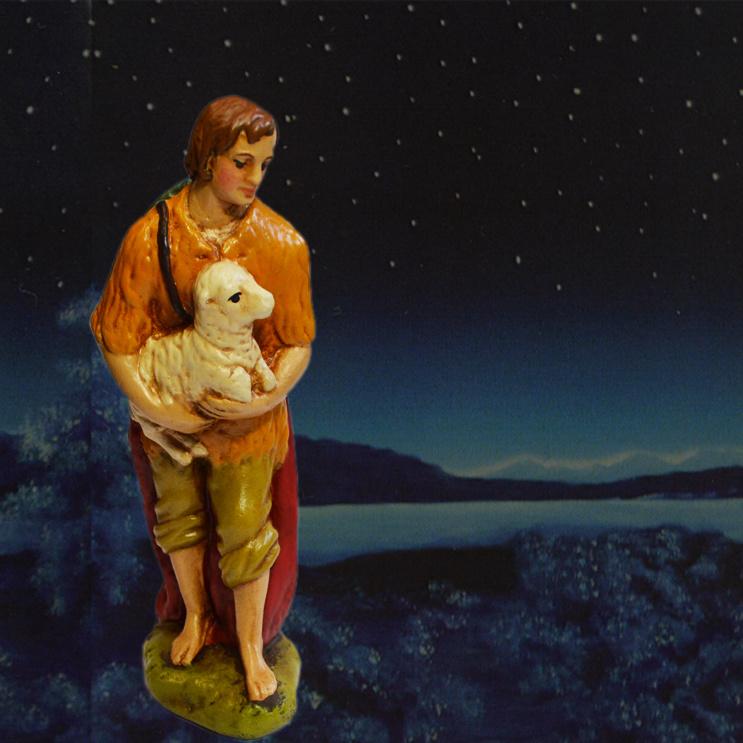 GipsI: Herder Hans met schaapje (16cm)