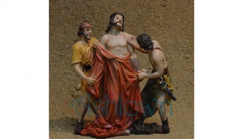 Ps23 Jezus wordt van zijn kleding beroofd