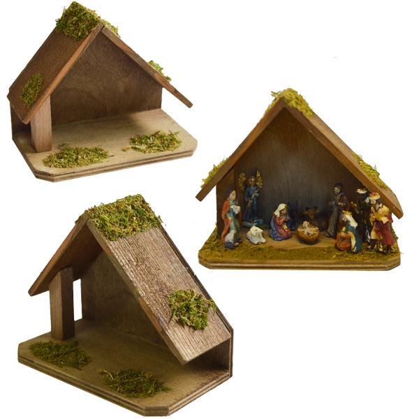 Kst-01-a Miniatuur kerststal (3.5 cm fig)