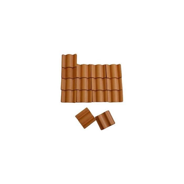 Bd-st12a: Dakpannen Terracotta 1 : 20