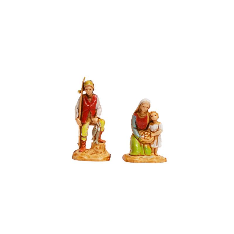 Kg-3.5-3: Twee figuren met kindje (2 dlg)