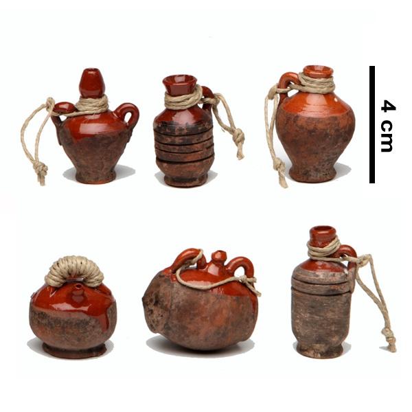 p-tc12.8: Kruikje 'Rustiek' (3 - 4 cmH)