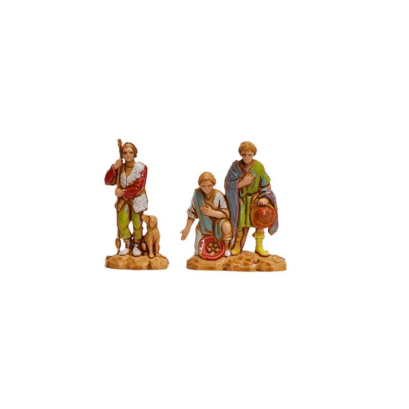 Kg-3.5-5: Drie figuren met hondje (2 dlg)