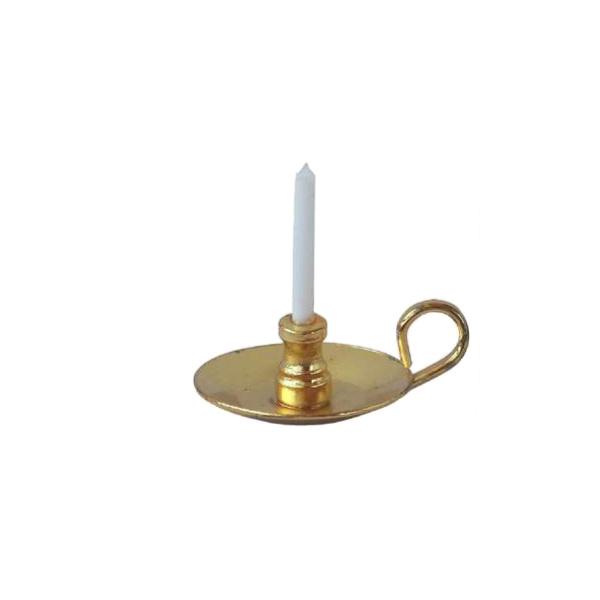 p-k012.1: Goudkleurige blaker / kandelaar (18 Ø)
