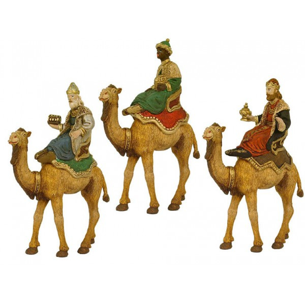 Sp-43: Drie koningen op kameel (set 3 stks)