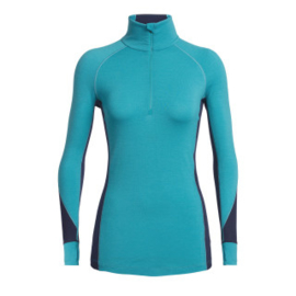 Icebreaker 	Wmns 260 Zone LS Half Zip / ARCTIC TEAL/Midnight Navy -Small