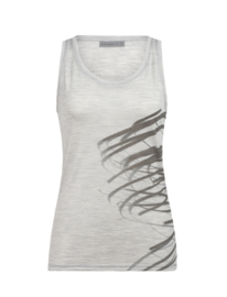 Icebreaker Wmns Tech Lite Tank Birds in Flight / Blizzard Hthr - M-L