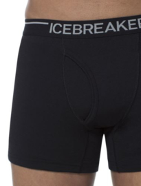 Icebreaker Mens BF200 Oasis Boxers w/Fly Black - Small