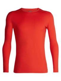Iebreaker Mens 200 Oasis LS Crewe / Chili Red / M-L-Xl