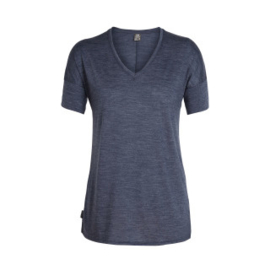 Icebreaker Wmns Elements (Solace) SS V /Midnight Navy Hthr-Large