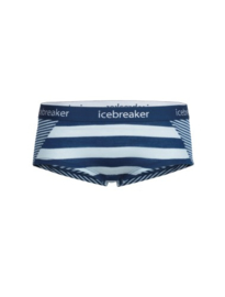 Icebreaker Wmns Sprite Hot Pants Ice Blue/Largo/Stripe -XL
