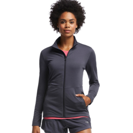 Icebreaker Wmns Victory LS Zip Panther/Panther -Small