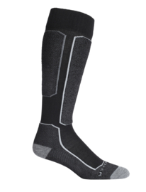 Icebreaker SKI+ LIGHT OVER THE CALF LIGHT CUSHION / Black -S- M-L