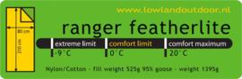 LOWLAND OUTDOOR® Ranger Featherlite - 210 x 80 cm - 1395 gr - 0°C