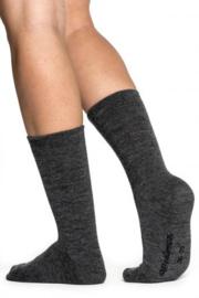 Woolpower Sokken Lite - Zwart - Grijs
