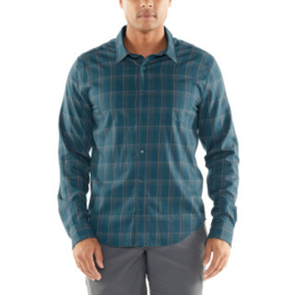 Icebreaker 	Mens Compass Flannel LS Shirt / POSEIDON/TIMBERWOLF/HYDRO PLAID- M-L-XL