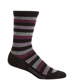 Icebreaker Socks Lite Crew Java/Bone/Cranberry/rose (D) - 35-37