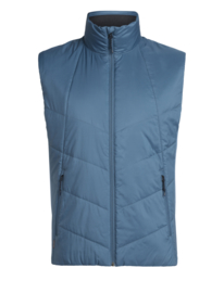 Icebreaker Mens Helix Vest/Thunder/Midnight Navy/Jet HTHR-Medium